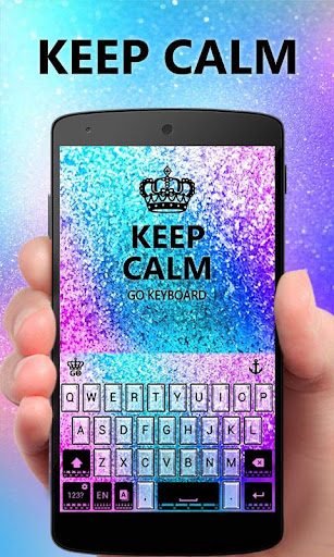 Keep Calm GO Keyboard theme screenshot