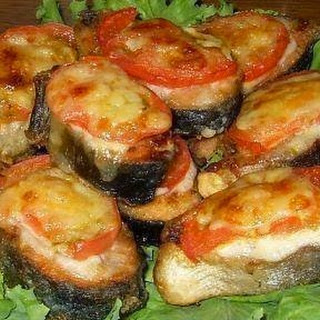 Fish With Tomato And Cheese.