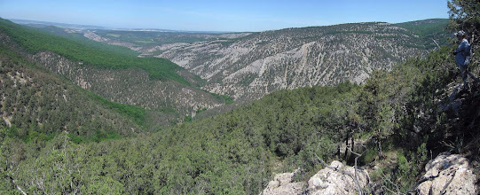 Photo: Низовья с середины Чернореченского каньона.