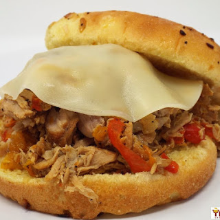 Slow Cooker Italian Style Pulled Pork Sandwiches.