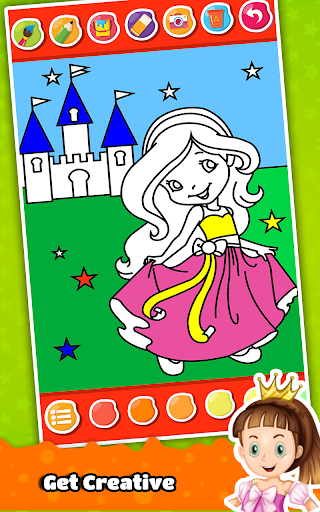Princess Coloring Book for Kids & Girls ud83cudfa8 1.7 screenshots 13