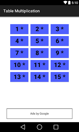 Table Multiplication
