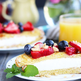 Cheesecake Stuffed French Toast with Berries Recipe