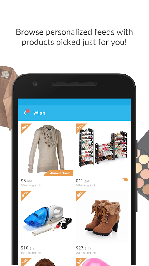 Screenshots of Wish - Shopping Made Fun for iPhone