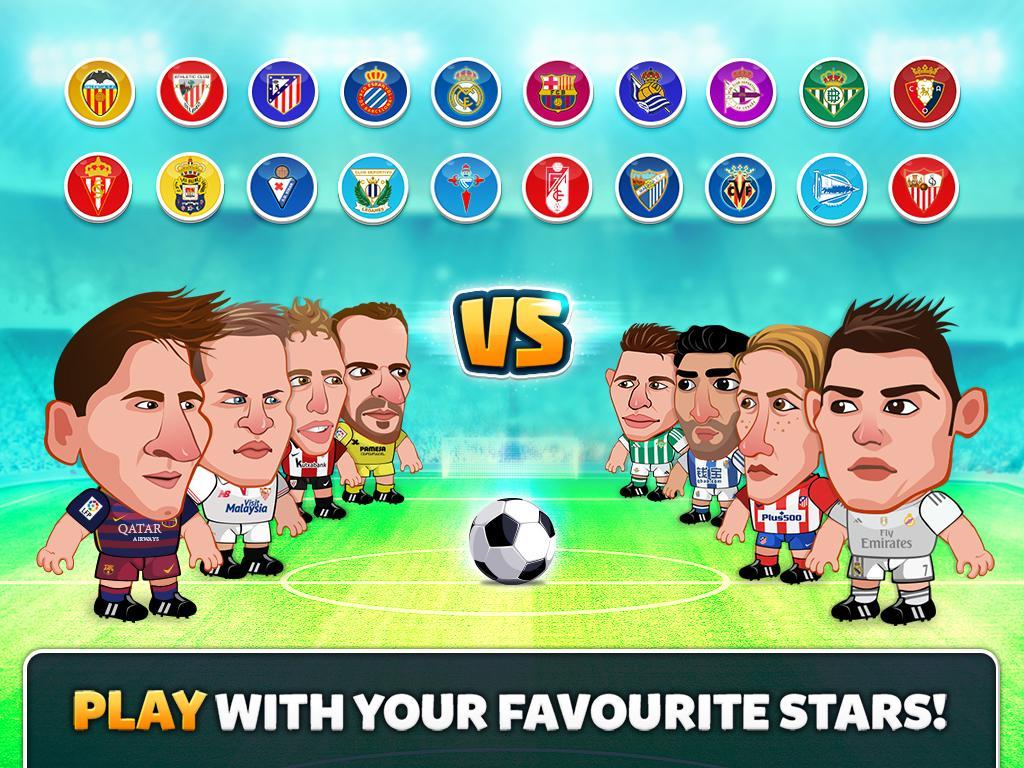 Screenshots of Head Soccer La Liga 2017 for iPhone
