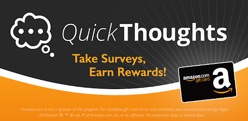 QuickThoughts: Take Surveys Earn Gift Card Rewards - Apps on