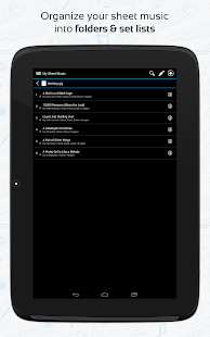 Sheet music manager android