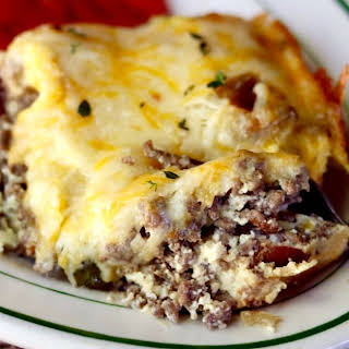 Low Carb Cheeseburger Casserole.