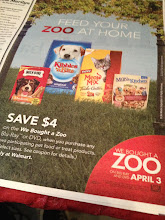 Photo: Before leaving for Walmart, I saw this We Bought A Zoo ad in the Parade section of our local Sunday paper! It said that I should look for a coupon at Walmart for $4 off on We Bought a Zoo when I buy two participating pet food or treats. I will definitely be looking for this.