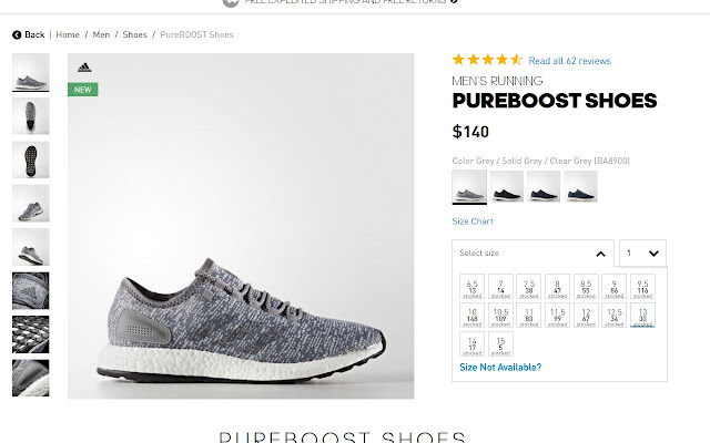 Adidas Stock Checker chrome extension will show stock levels for Adidas  products on their product pages.