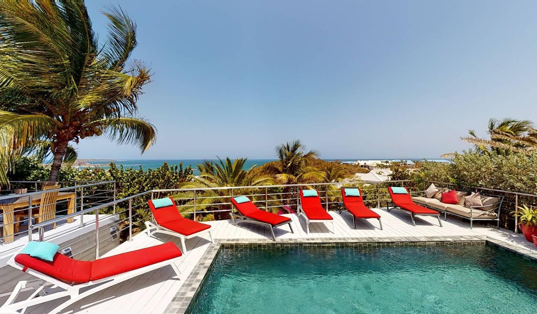 Villa avec piscine en bord de mer Saint-Martin