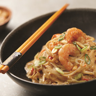 Peanut Butter Ramen with Spicy Orange Shrimp