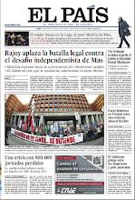 Photo: En la portada de EL PAÍS del 14 de enero: Rajoy aplaza la batalla legal contra el desafío independentista de Mas; La conflictividad laboral creció en España un 138% durante 2012; Pacto en Francia para una reforma laboral flexible. http://srv00.epimg.net/pdf/elpais/1aPagina/2013/01/ep-20130114.pdf