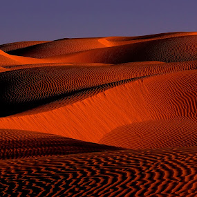 Tunisian Desert (1) by Amas Art - Landscapes Deserts ( sand, red, desert, tunisia, africa, World_is_RED )