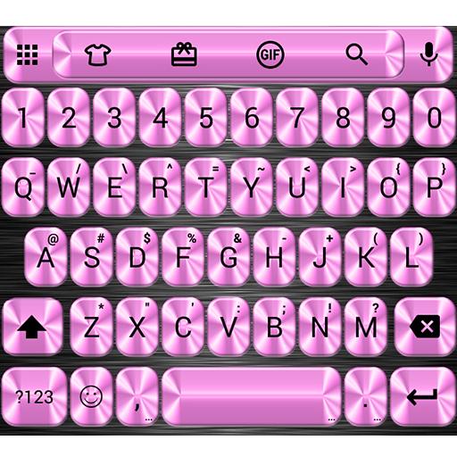 Metallic Pink Emoji Keyboard