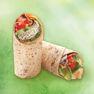 Turkey and Avocado Club Flatbread Wrap