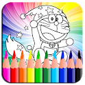 Coloring Book Dorae Cat icon