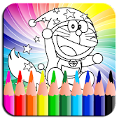 Coloring Book Dorae Cat