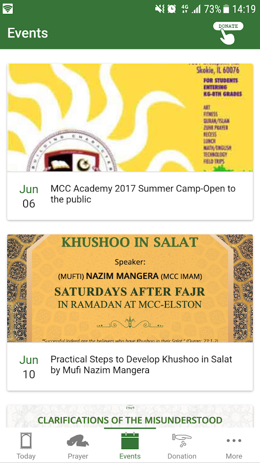 Muslim Community Center- screenshot