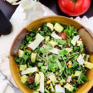 Corn, Arugula and Avocado Quinoa Salad
