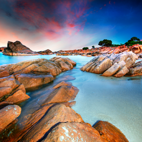 Sunset by Greg Tennant - Landscapes Waterscapes ( water, sunset, ocean, rocks,  )