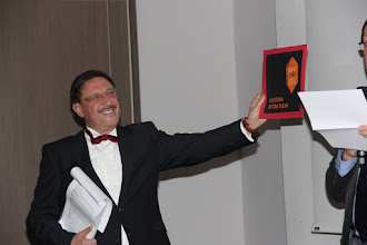 """Photo: Maxim Behar - announcement of the winner of category """"Relations of the Future"""""""