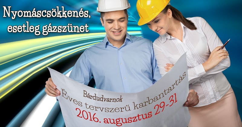 Gázvezeték karbantartás 2016 augusztus