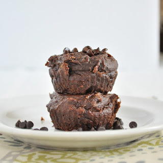 Healthy Flourless Chocolate Muffins.