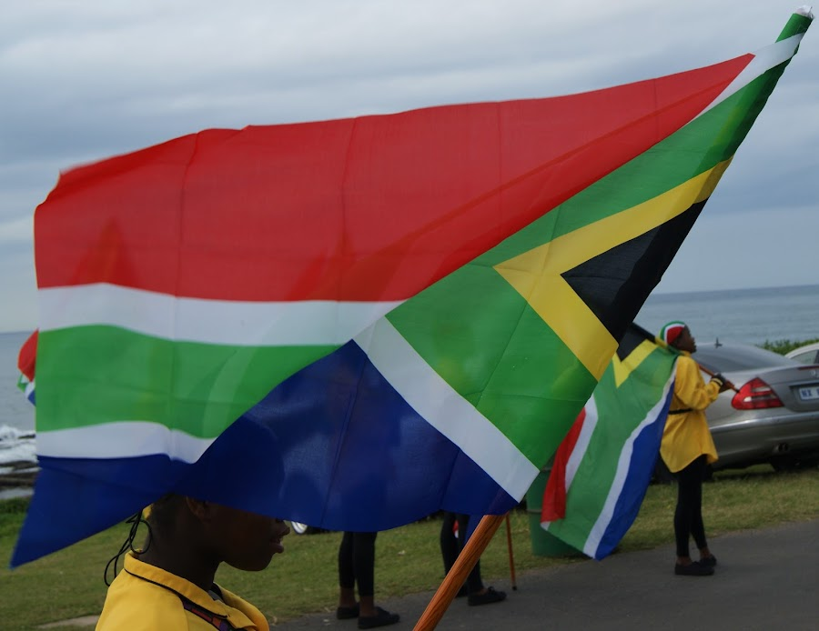 South African Flag by Jason C Robinson - Novices Only Street & Candid ( flag, proud, national day, flying colors, south africa )