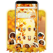 FREE autumn maple leaf tema