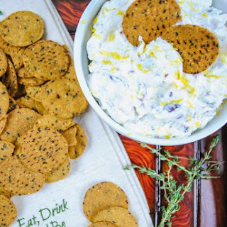 Holiday Cheese Dip with Cranberry, Walnuts, Lemon, and Thyme