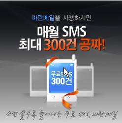 파란메일 SMS, 효과 있을까?