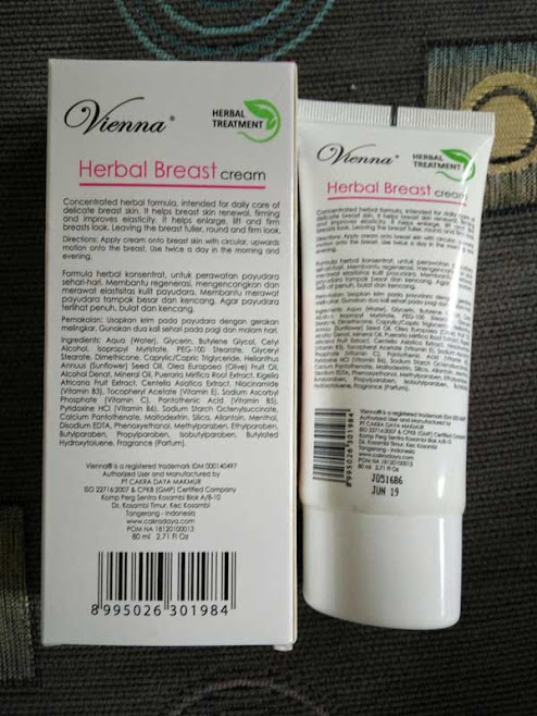 Cream Pembesar Payudara Vienna Breast Cream