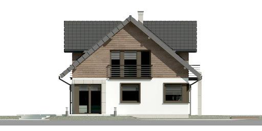 Dom przy Cyprysowej 36 D - Elewacja lewa