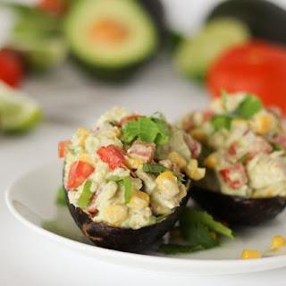 Healthy Low Fat Mexican Avocado Chicken Salad.