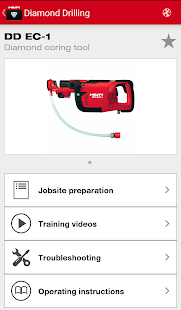 Hilti Diamond Assistant – Vignette de la capture d'écran