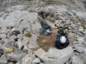 Photo: Cerca de la base de Peña Santa de Castilla hay una buena zona de vivac, donde dejamos las mochilas.