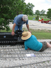 Photo: Gil Freitag supervises Ed Rains who is working on Gil's loco.  HALS SWLS 2009