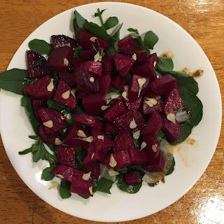 Rosemary-Balsamic Beet and Arugula Salad