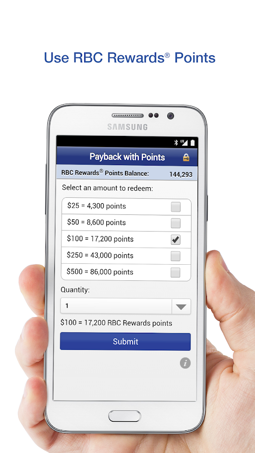 RBC Mobile- screenshot