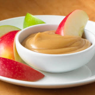 Apple Slices with Creamy Peanut Butter Dip.