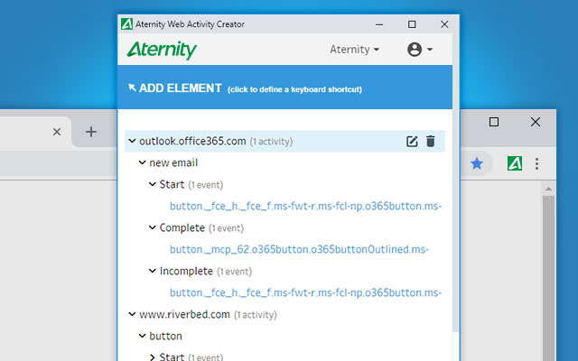 Aternity Web Activity Creator (Beta)