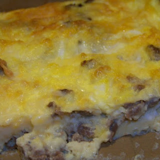 Basic Sausage Egg and Cheese Casserole