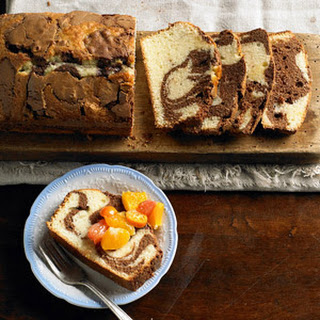 Milk Chocolate Marble Loaf Cake.