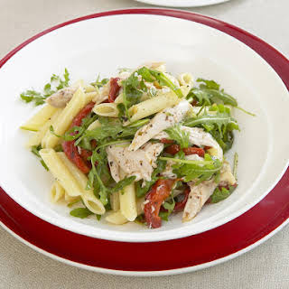 Pasta Salad with Chicken and Roasted Red Peppers.