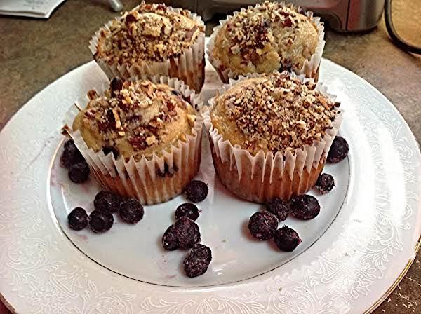 Pecan Lemony Blueberry Muffins Recipe