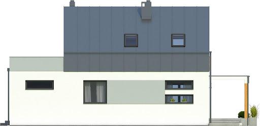 Eco 3 z garażem 1-st. A - Elewacja tylna