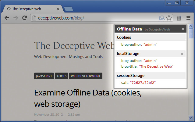 Examine Offline Data (Cookies, HTML5 Storage)