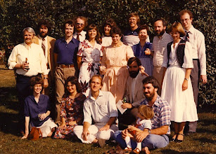 Photo: UM Computing Center, Merit staff, and friends at Jeff Ogden's and Shifrah Nenner's wedding, Ann Arbor, September 1982 (Amdahl 5860 serial #1 was being installed at UM at this time)