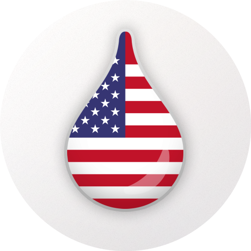 Learn American English language for free – Drops Icon